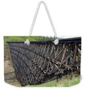 Pouce Coupe Train Wooden Trestle Weekender Tote Bag