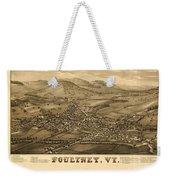 Poultney Vermont Map Vintage Weekender Tote Bag