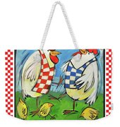Poultry In Motion Poster Weekender Tote Bag