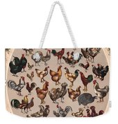 Poultry Of The World Poster Weekender Tote Bag
