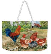 Poultry Peckin Pals Weekender Tote Bag