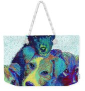 Pound Puppies Weekender Tote Bag by Jane Schnetlage