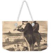 Pour Une Belle Vue, V'la Une Belle Vue!... Weekender Tote Bag