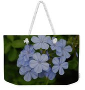 Powder Blue Flowers Weekender Tote Bag
