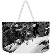Powder Hound Bw Version Weekender Tote Bag