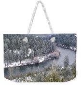 Powdered Spokane River Weekender Tote Bag