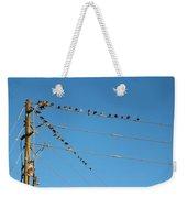 Power Line Birds Weekender Tote Bag