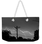 Power Lines Bw Fine Art Photo Print Weekender Tote Bag