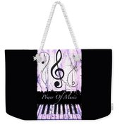 Power Of Music Purple Weekender Tote Bag