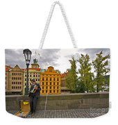 Prague Accordian Player On Charles Bridge Weekender Tote Bag