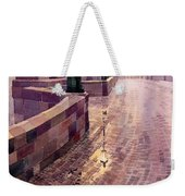 Prague Charles Bridge Night Light Weekender Tote Bag