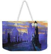 Prague Charles Bridge Sunrise Weekender Tote Bag