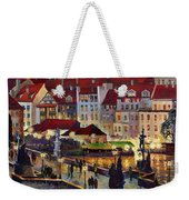 Prague Charles Bridge With The Prague Castle Weekender Tote Bag