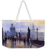 Prague Charles Bridge Weekender Tote Bag by Yuriy Shevchuk