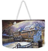 Prague Chertovka Winter 01 Weekender Tote Bag