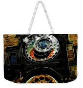 Prague Clock Weekender Tote Bag