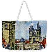 Prague Czech Republic Weekender Tote Bag by Irina Sztukowski