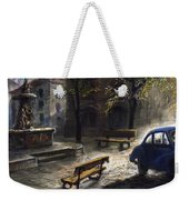 Prague Old Fountain Weekender Tote Bag