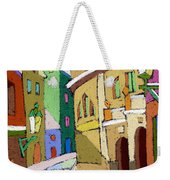 Prague Old Street Karlova Winter Weekender Tote Bag