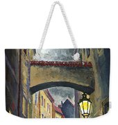 Prague Old Street Love Story Weekender Tote Bag