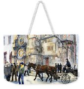 Prague Old Town Square Astronomical Clock Or Prague Orloj  Weekender Tote Bag