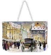 Prague Old Town Square Winter Weekender Tote Bag