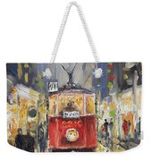 Prague Old Tram 08 Weekender Tote Bag