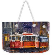 Prague Old Tram 09 Weekender Tote Bag