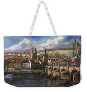 Prague Panorama Charles Bridge Prague Castle Weekender Tote Bag