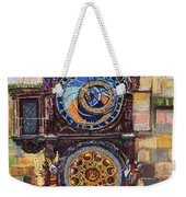 Prague The Horologue At Oldtownhall Weekender Tote Bag