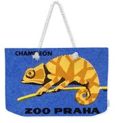 Prague Zoo Chameleon Matchbox Label Weekender Tote Bag