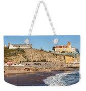 Praia Da Poca Beach In Estoril Portugal Weekender Tote Bag
