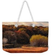 Prairie Autumn Stream Weekender Tote Bag