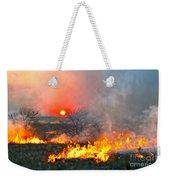 Prairie Burn Sunset In Kansas Weekender Tote Bag