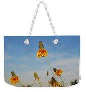 Prairie Cone Flowers Against Blue Sky Horizontal Number Three Weekender Tote Bag