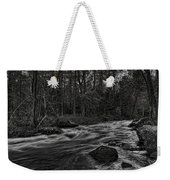 Prairie River Whitewater Black And White Weekender Tote Bag