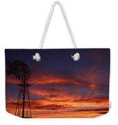 Prairie Sunset With Windmill Weekender Tote Bag