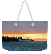 Prairie Winter Sunrise Weekender Tote Bag