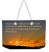 Pray Abundantly Weekender Tote Bag