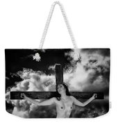 Praying On Cross Weekender Tote Bag