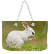 Praying White Rabbit Weekender Tote Bag