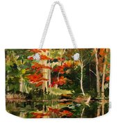 Prentiss Pond, Dorset, Vt., Autumn Weekender Tote Bag