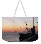 Pre-sunrise On Daytona Beach Pier   Weekender Tote Bag