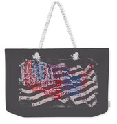 Preamble To The Constitution On Us Map Weekender Tote Bag