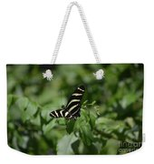 Precious Black And White Zebra Butterfly In The Spring Weekender Tote Bag
