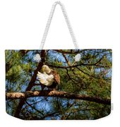 Preening Bald Eagle Weekender Tote Bag