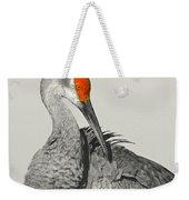 Preening Crane Weekender Tote Bag