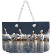 Preening Pelicans Weekender Tote Bag