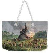 Prehistoric Mammoth Hunt Weekender Tote Bag