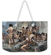 Prehistoric Man: Tools Weekender Tote Bag